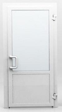 Двери пластиковые уличные со стеклом